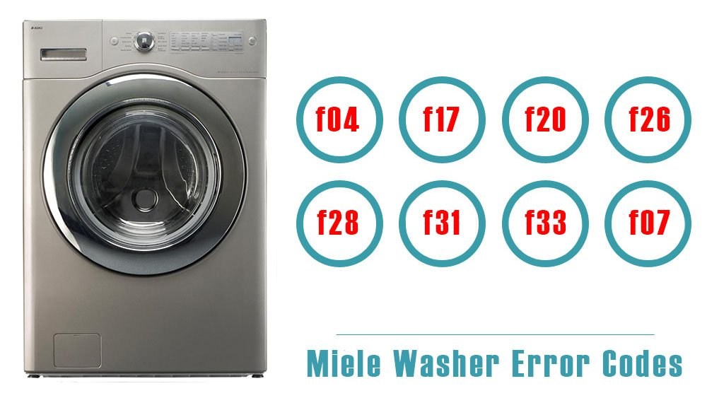 Miele Washer Error Codes | Washer and dishwasher error codes