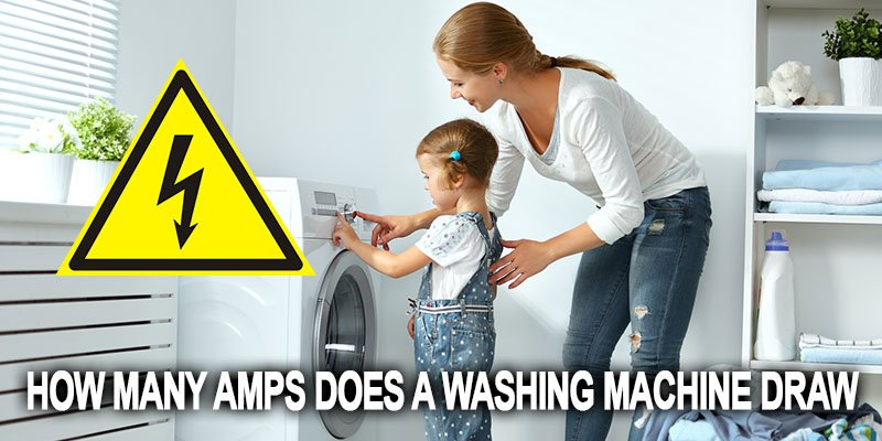 How many amps does a washing machine draw