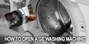 How to open a ge washing machine