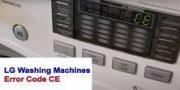 LG Washing Machines Error Code CE
