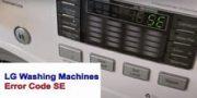 LG Washing Machines Error Code SE