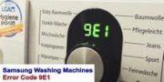Samsung Washing Machines Error Code 9E1