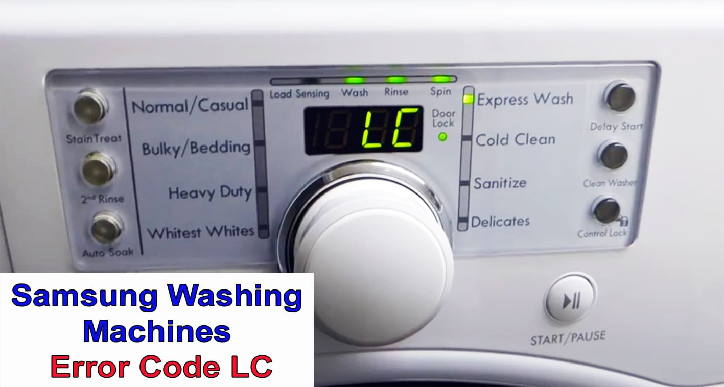 Samsung Washing Machines Error Code LC