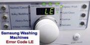 Samsung washing machines error code LE