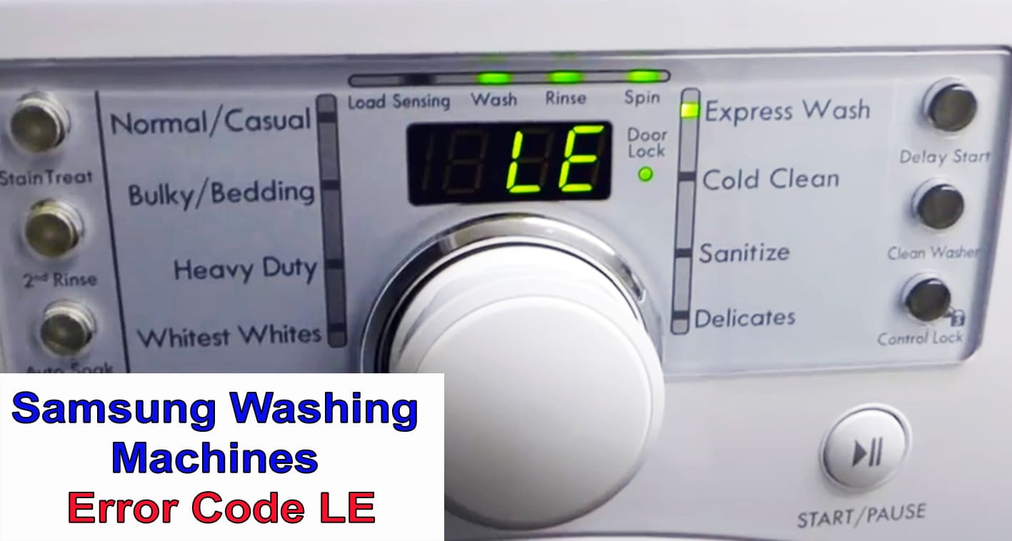 Samsung Washer Error Code Lc Le Washer And Dishwasher Error Codes And Troubleshooting
