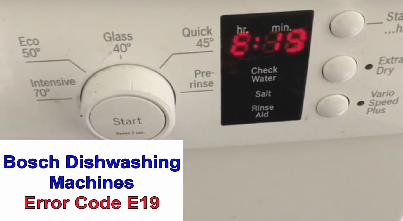 Bosch Dish Washer Error E 24 Easy Fix Youtube Bosch Dishwasher Appliance Repair