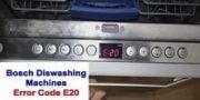 Bosch dishwasher error code E20