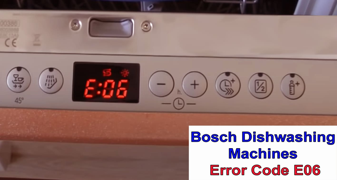 Bosch dishwasher error code E6