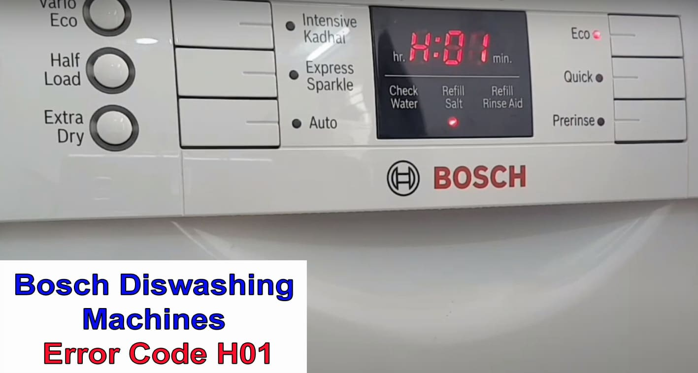 Bosch Dishwasher Error Code H01 Washer And Dishwasher Error Codes And Troubleshooting