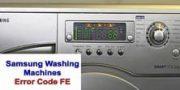 Samsung Washing Machines Error Code FE