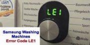Samsung Washing Machines Error Code LE1