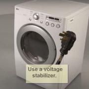 Samsung Washing Machines Error Code UC use a voltage stabilizer