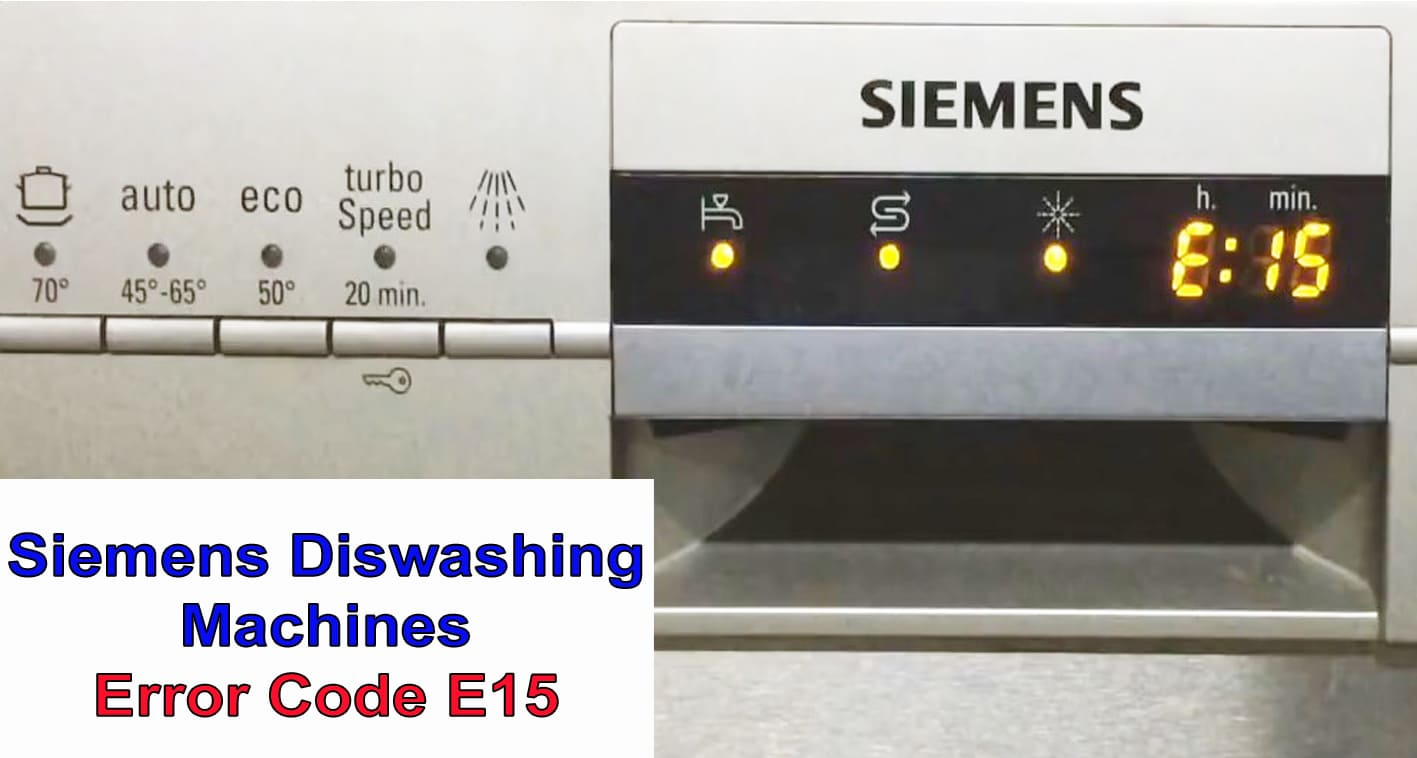 Siemens dishwasher error code E15