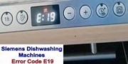 Siemens dishwasher error code E19