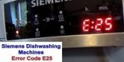 Siemens dishwasher error code E25