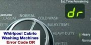 Whirlpool Cabrio washer error code DR