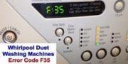 Whirlpool Duet washer error code f35